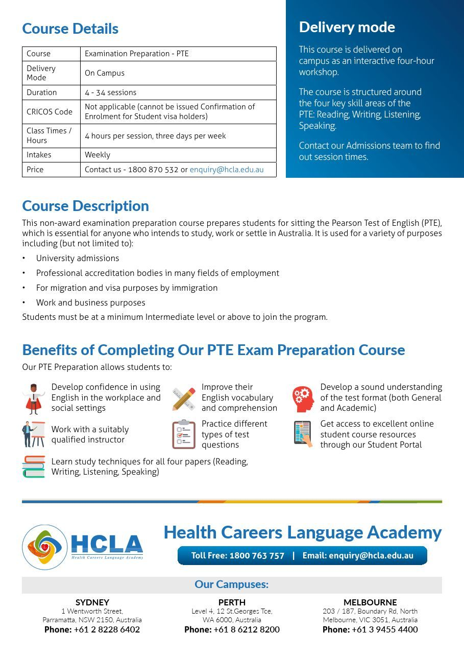 Pearson Test of English (PTE) Preparation